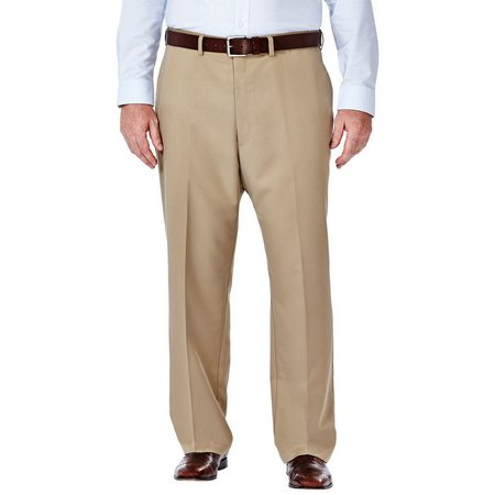 Haggar Mens Big & Tall Cool 18 Pants
