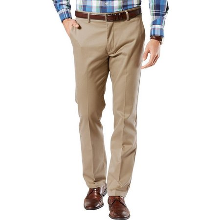 Dockers Mens Signature Slim Fit Flat Front Pants