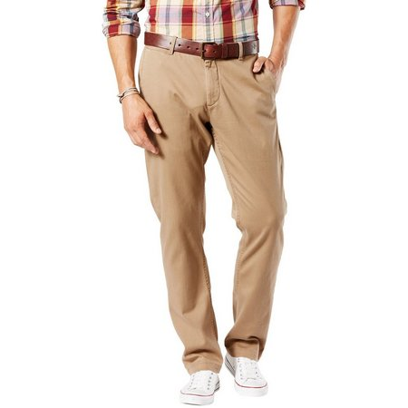 Dockers Mens Athletic Fit Washed Tapered Pants