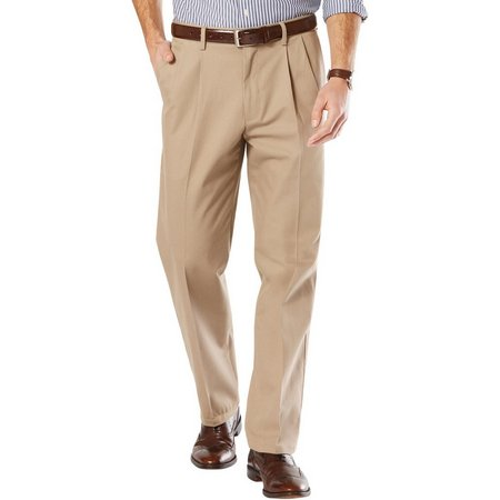 Dockers Mens Big & Tall Signature Pleated Pants