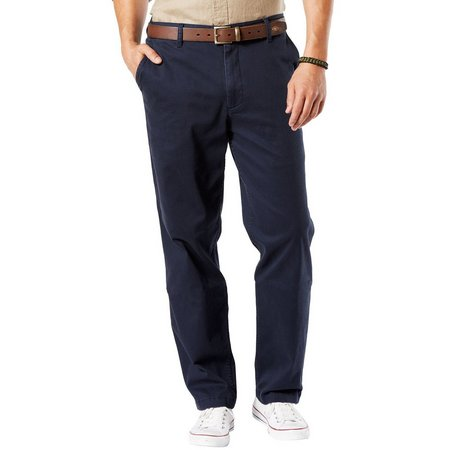 Dockers Mens Big & Tall Washed Flat Front