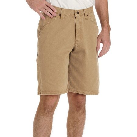 Lee Mens Dungarees Carpenter Khaki Shorts