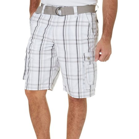 Lee Mens Dungarees Wyoming Foster Plaid Shorts