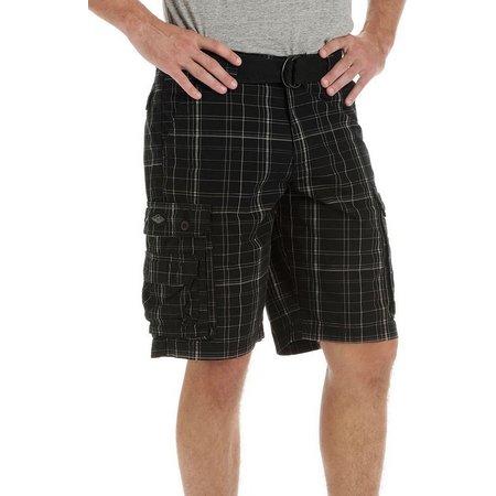 Lee Mens Wyoming Plaid Cargo Shorts