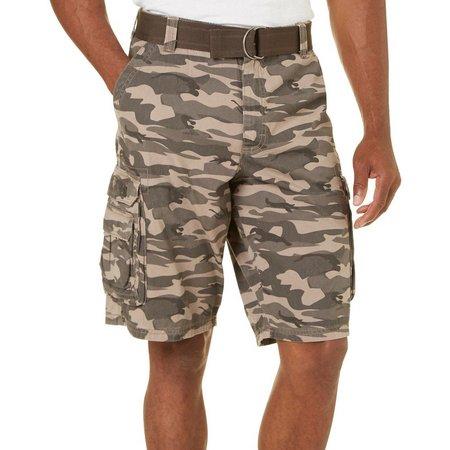 Lee Mens Dungarees Camo Wyoming Cargo Shorts