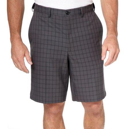 Haggar Cool 18 Windowpane Flat Front Shorts