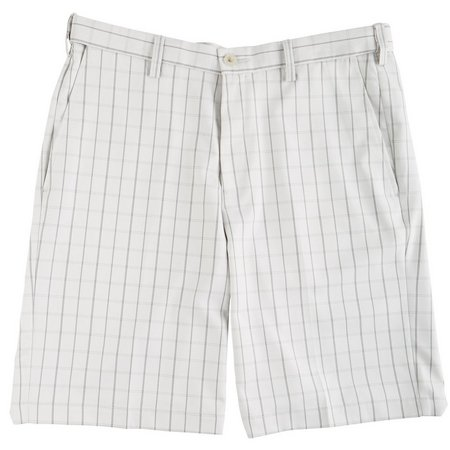 Haggar Cool 18 Windowpane Flat Front Shorts