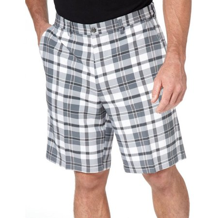 Haggar Cool 18 Exploded Plaid Mens Shorts