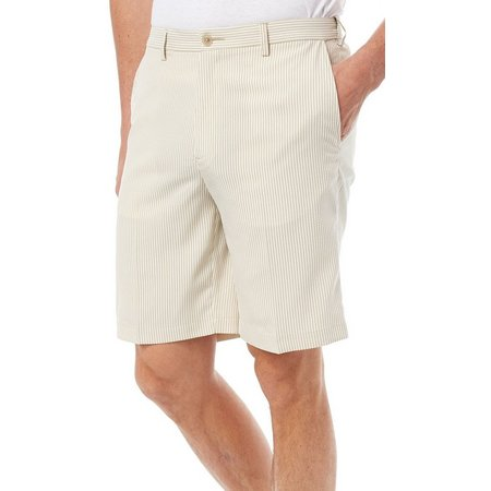 Haggar Mens Stripe Seersucker Shorts