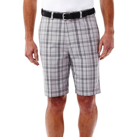 Haggar Mens Cool 18 Windowpane Plaid Shorts