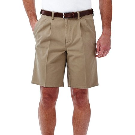 Haggar Mens Cotton Twill Shorts