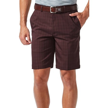 Haggar Mens Cool 18 Windowpane Shorts