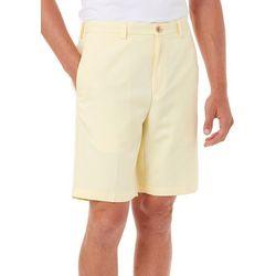 Haggar Mens Cool 18 Oxford Flat Front Shorts