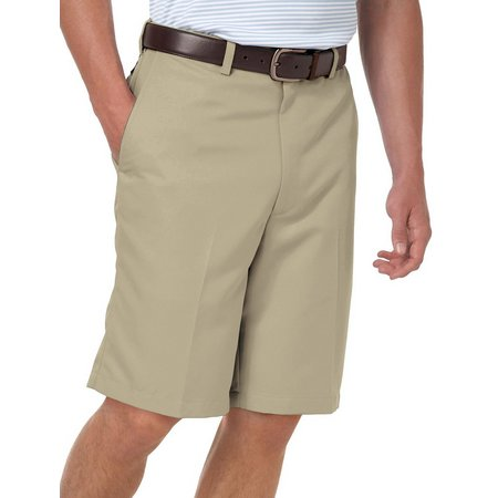 Haggar Cool 18 Performance Wear Flat Front Shorts