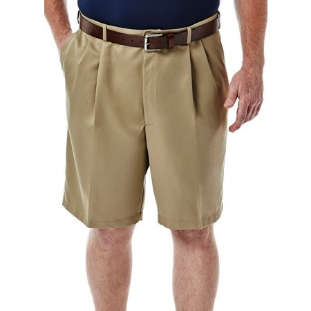Haggar Mens Big & Tall Cool 18 Pleated