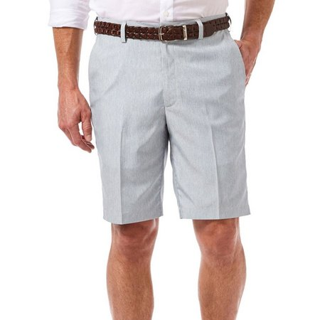 Haggar Mens Cool 18 Oxford Stripe Shorts