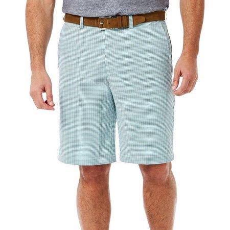 Haggar Mens Cool 18 Gingham Shorts