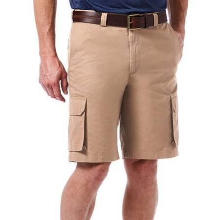 Haggar Mens Canvas Cargo Shorts
