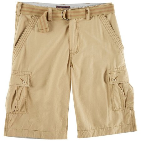 Wearfirst Mens Solid Cargo Shorts