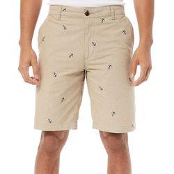 Dockers Mens Flat Front Anchor Shorts