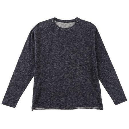 Age of Wisdom Mens Knit Raw Edge T-Shirt