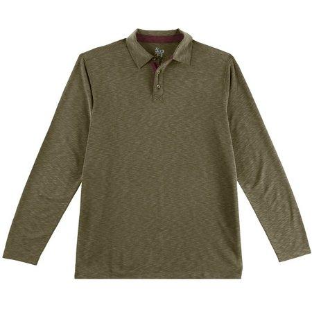 Age of Wisdom Mens Long Sleeve Polo Shirt