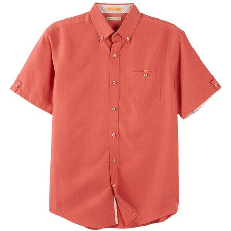 Age of Wisdom Mens Coral Short Sleeve Shirt