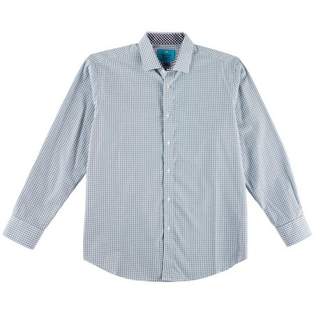 Christian Aujard Mens Check Long Sleeve Sport Shirt