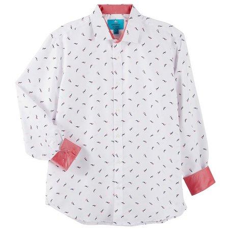 Christian Aujard Mens Contrast Boat Print Shirt