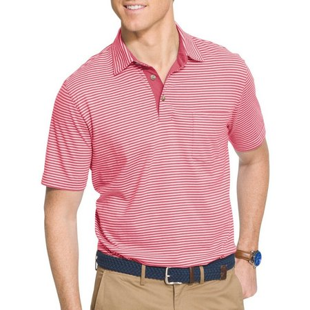 IZOD Mens Thin Stripe Polo Shirt