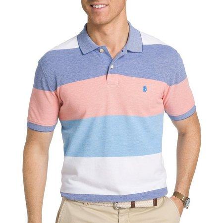 IZOD Mens Mazarine Colorblock Polo Shirt