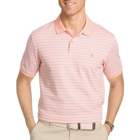 IZOD Mens Advantage Feeder Stripe Polo Shirt