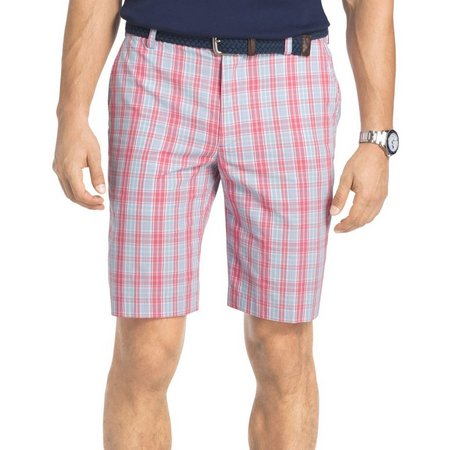 IZOD Mens Portsmith Plaid Shorts