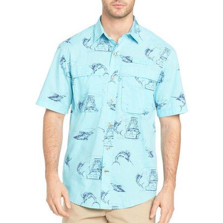 IZOD Mens Surfcaster Marlin Fishing Shirt