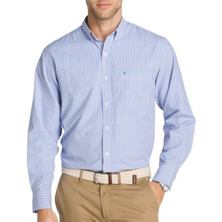 IZOD Mens Saltwater Breeze Plaid Shirt