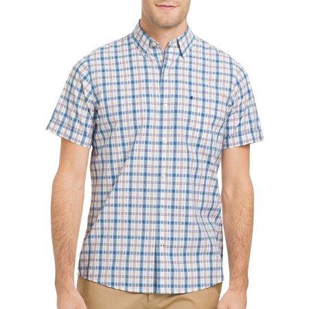 IZOD Mens Saltwater Breeze Plaid Shirt