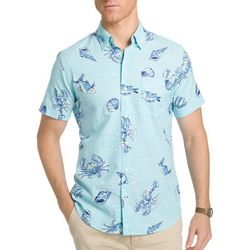 IZOD Mens Sea Life Conversational Dockside Shirt