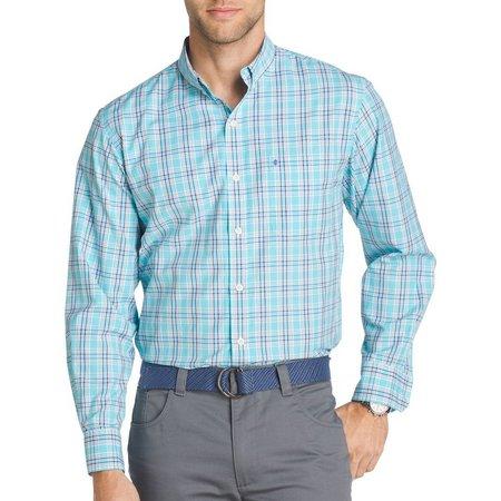IZOD Mens Long Sleeve Saltwater Breeze Shirt