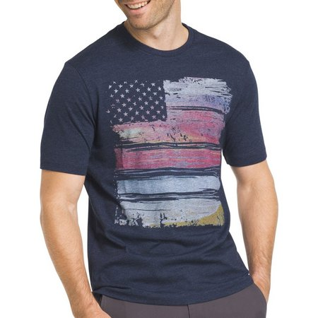 New! IZOD Mens Flag Graphic T-Shirt