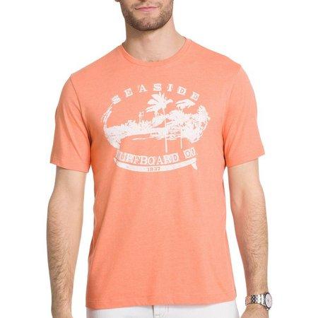 IZOD Mens Nautical Seaside Surfboard T-Shirt