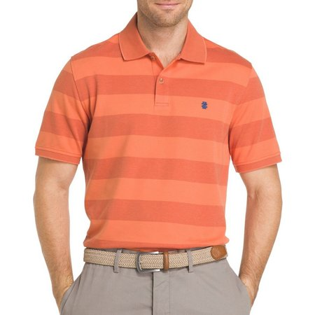 IZOD Mens Sportflex Striped Performance Polo Shirt