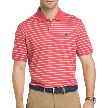 IZOD Mens Advantage Feeder Stripe Polo Shirt
