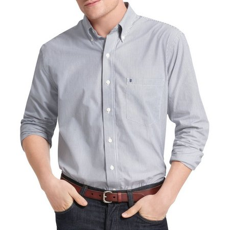 IZOD Long Sleeve Striped Button Down Woven Shirt