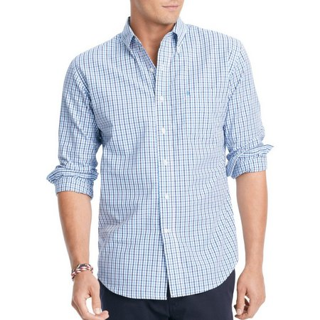 IZOD Long Sleeve Tattersall Shirt