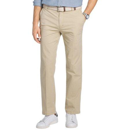 IZOD Mens Flat Front Saltwater Chino Pants