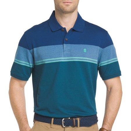IZOD Mens Engineered Colorblock Polo Shirt