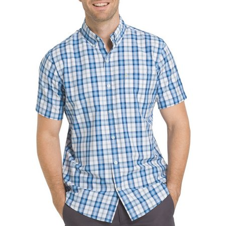 IZOD Mens Advantage Cool FX Plaid Breeze Shirt