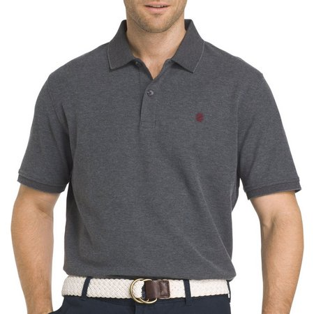 IZOD Mens Advantage Carbon Contrast Polo Shirt