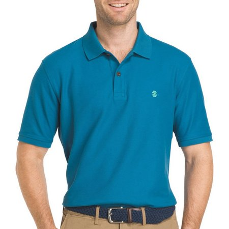 IZOD Mens Advantage Saxony Contrast Polo Shirt