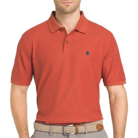 IZOD Mens Advantage Orange Contrast Polo Shirt